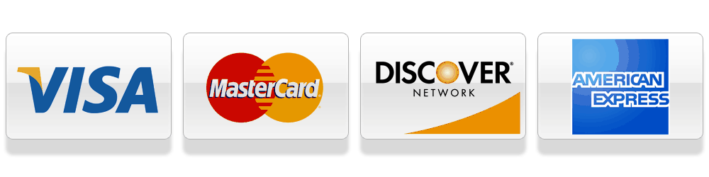 credit cards we accept